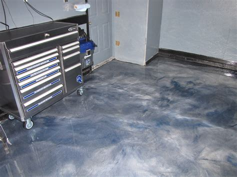 Garage Floor Coated With Metallic Epoxy   MVL Concretes' Blog