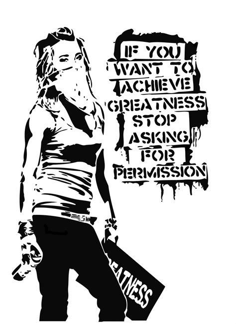 stencil graffiti quotes quotesgram