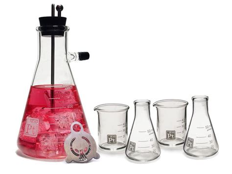 martini shaker set this cocktail shaker set by periodic tableware will make