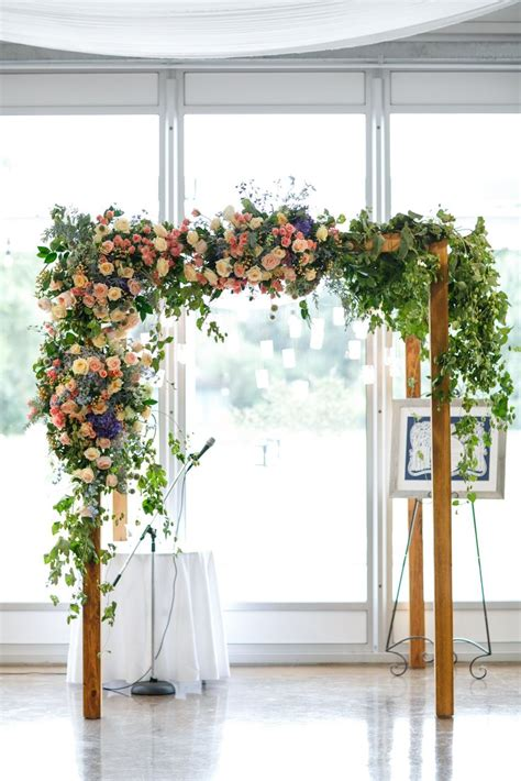 wedding arch vines wooden arch with vines roses hydrangea arches