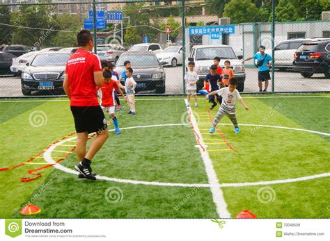 football basic skill tutorial shenzhen china children s basic skills in the training