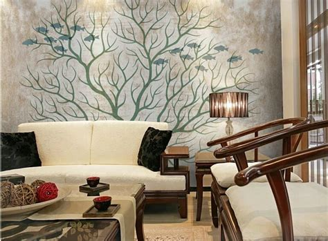 tree wallpaper living room wallpaper picture more detailed picture about basin faucet led glass abstract tree 3d