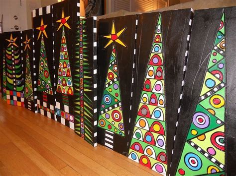 christmas craft activities for middle school students trees that would be a beautiful school project idea sorry no link but such a