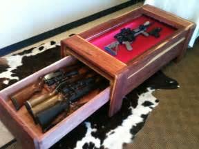 Long Gun Concealment Coffee Table   StashVault