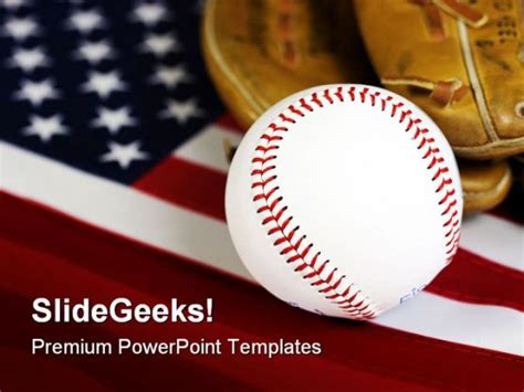 baseball powerpoint templates american baseball sports powerpoint template 1010