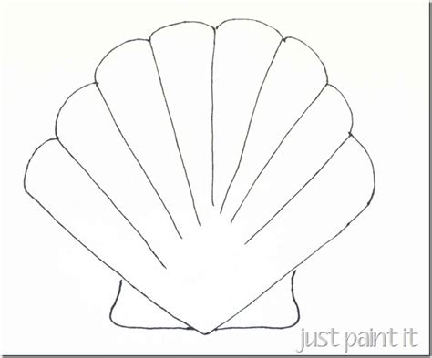 seashell coloring pages preschool seashell and starfish pattern printables starfish