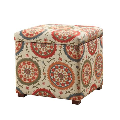 colored ottomans storage ottoman multi color meadow lane storage ottomans