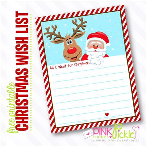 5 best images of free printable christmas list paper