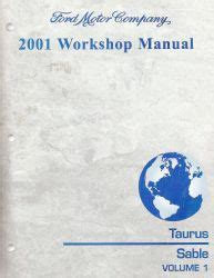 old car owners manuals 2001 mercury sable on board diagnostic system 2001 ford taurus mercury sable workshop manual 2 volume set