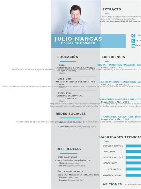 Modelo Nuevo Curriculum Vitae Nuevo Formato De Cv Template Oct16