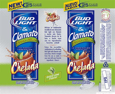 bud light lime ingredients clamato ingredients