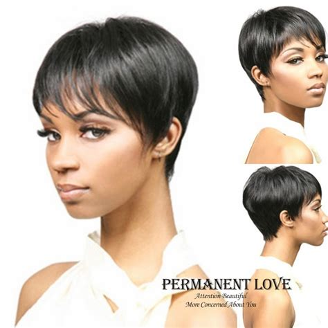 pixie wig for black women synthetic short wig with bangs for black women pixie cut