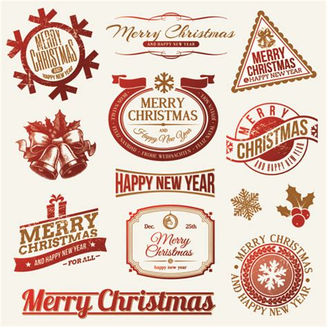 new year ornament vector free 2014 new year and labels with decor vector 01