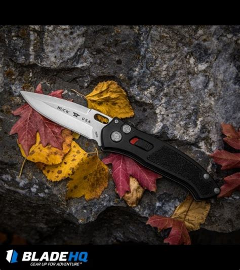 buck auto buck impact automatic knife black 3 125 quot satin 0898bks