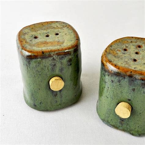 Handmade Salt And Pepper Shakers - green moss handmade salt pepper shakers by glazedover