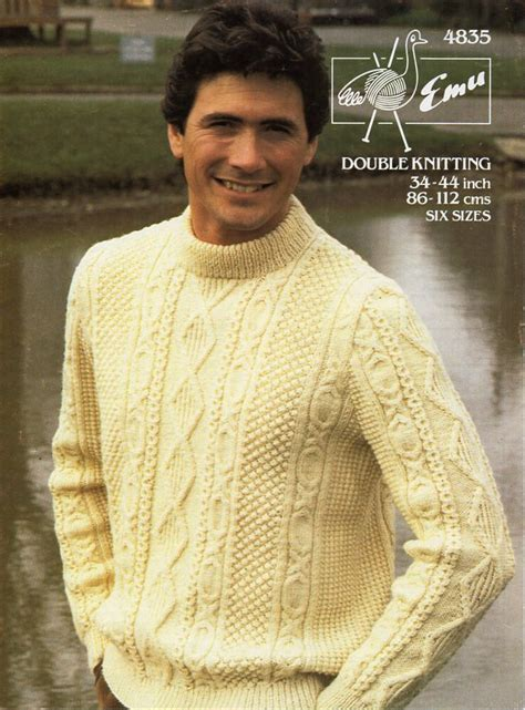 mens aran jumper knitting patterns mens aran sweater knitting pattern pdf mens aran jumper