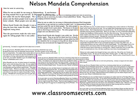 biography of nelson mandela for grade 6 100 homophones differentiated worksheets where were