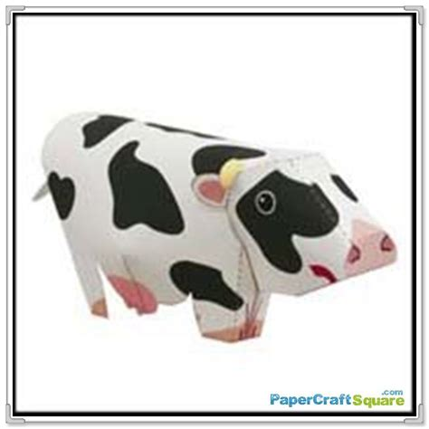 Beginner Papercraft - more cow papercraft