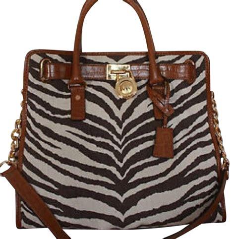 Large Shopping Bag Zebra michael kors large zebra print hamilton black white