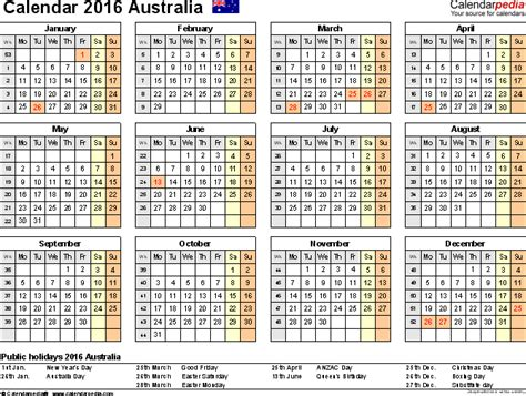 template 8 2016 calendar for excel year at a glance 1 page