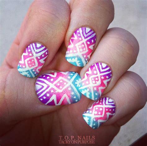 aztec pattern nail art moda dise 241 o de u 241 as y m 225 s colores combinaciones y