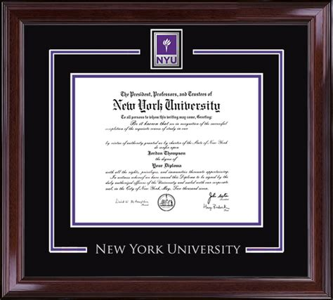 Nyu Mba Diploma Frame by New York Diploma Frames Church Hill Classics