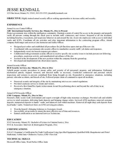 law enforcement resume job objective 3 - Law Enforcement Resume Objective