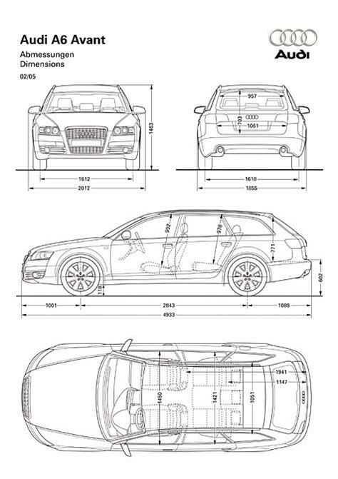 Audi A6 Abmessungen by Audi A6 Avant Abmessungen Technische Daten L 228 Nge