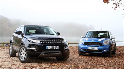 mini land rover comparatif mini countryman land rover range rover evoque