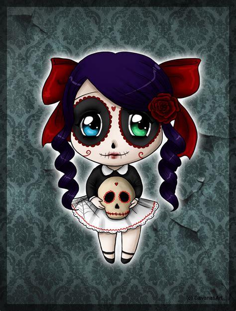 imagenes de calaveras kawaii skull candy chibi by savanasart deviantart com on