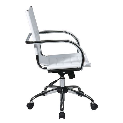 White Ergonomic Office Chair by Ergonomic Leather Office Chair In White Tnd941a Wh