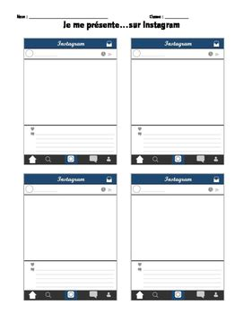 Instagram Template For Students