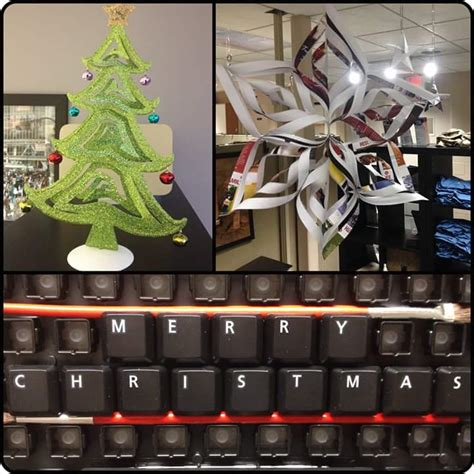 diy office decorating ideas 60 fun office christmas decorations to spread the festive