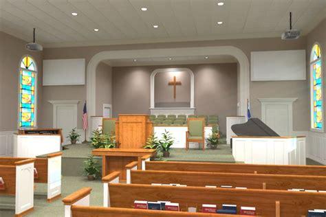 church decorating interior  renderings liturgical