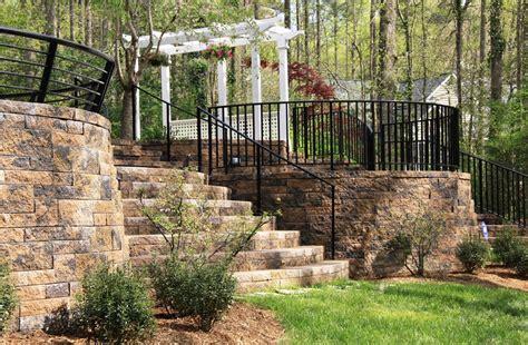 landscape wall blocks retaining wall design landscaping network