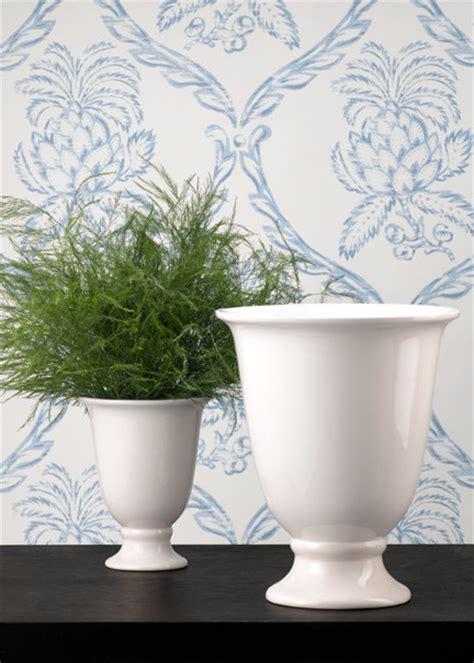 white porcelain urn flower vase traditional vases by
