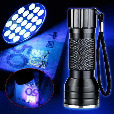 Senter Led Uv 395nm selling uv ultra violet 21 21 led 395nm flashlight mini っ blacklight blacklight