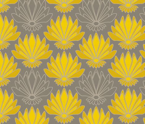 Upholstery Fabric Designs Art Deco Lotus Fabric Mariao Spoonflower