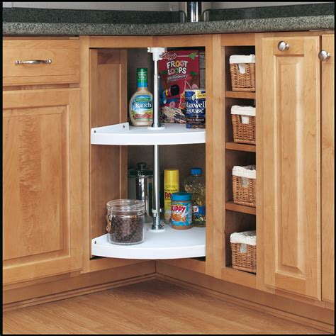 Kitchen Cabinet Organizers Home Depot by Shop Rev A Shelf 2 Tier Plastic Pie Cut Cabinet Lazy Susan