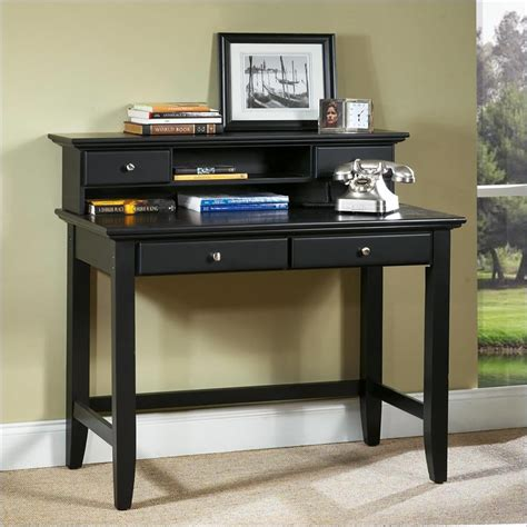 black student desk home styles bedford black student desk hutch 5531 162