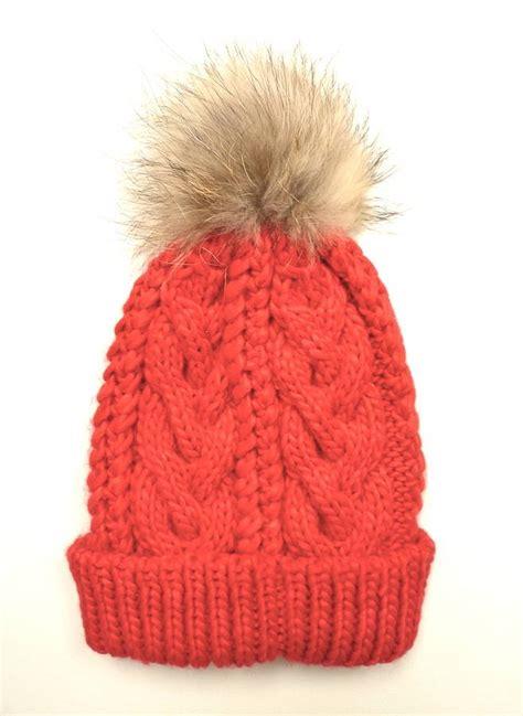 how to knit a pom pom hat cable knit fur pom pom bobble hat