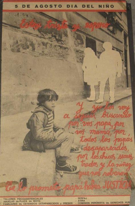 la dictadura de gnero 8415338813 cartel argentino sobre los desaparecidos de la dictadura de videla propaganda