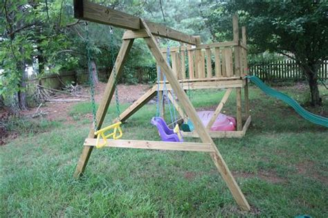 second hand swing set how to build a diy playground playset part 2