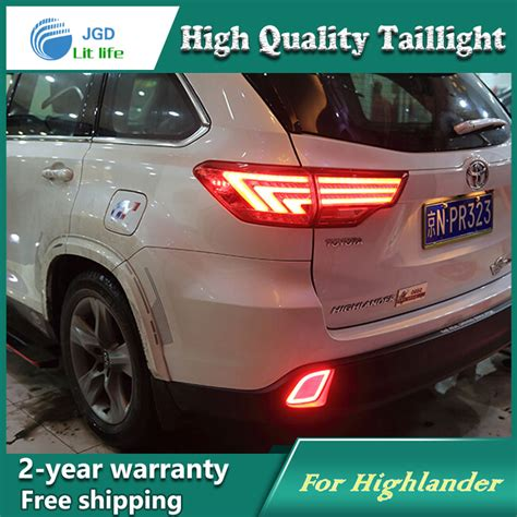 2004 toyota highlander tail light assembly car led tail light parking brake rear bumper reflector