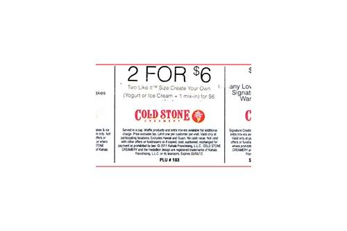 cold stone ice cream cake coupons
