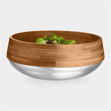 Salad Bowl kontra bamboo salad bowl with stainless steel base the