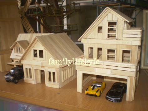 popsicle stick house floor plans casa moderna com palitos de picol 233 pinteres