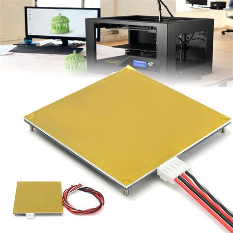heated bed pcb heated bed 120 120mm 12v kit for mendel reprap 3d