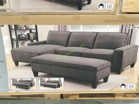 costco ottoman fabric sectional with storage ottoman costcochaser