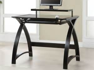 Curvy black wooden desk with white tabletop furniture cool black
